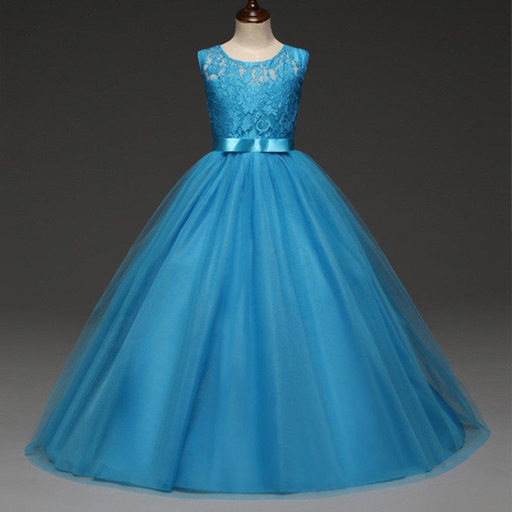 Malloom® 2018 Girl Flowers Sleeveless Wedding Formal Dress Kids Princess Bridesmaid Christening Party Dresses 4-12 Years: Amazon.co.uk: Clothing