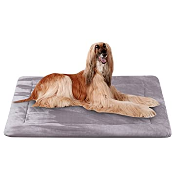 Colchoneta Grande Suave para Perros - 100% Lavable A Máquina, Colchón De Lujo Antideslizante De Gris, XL: Amazon.es: Productos para mascotas