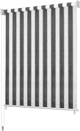 Festnight Persiana Enrollable de Exterior Toldo Vertical para Balcón, Patio, Porche o Pérgola A Rayas Gris Antracita y Blanca: Amazon.es: Hogar