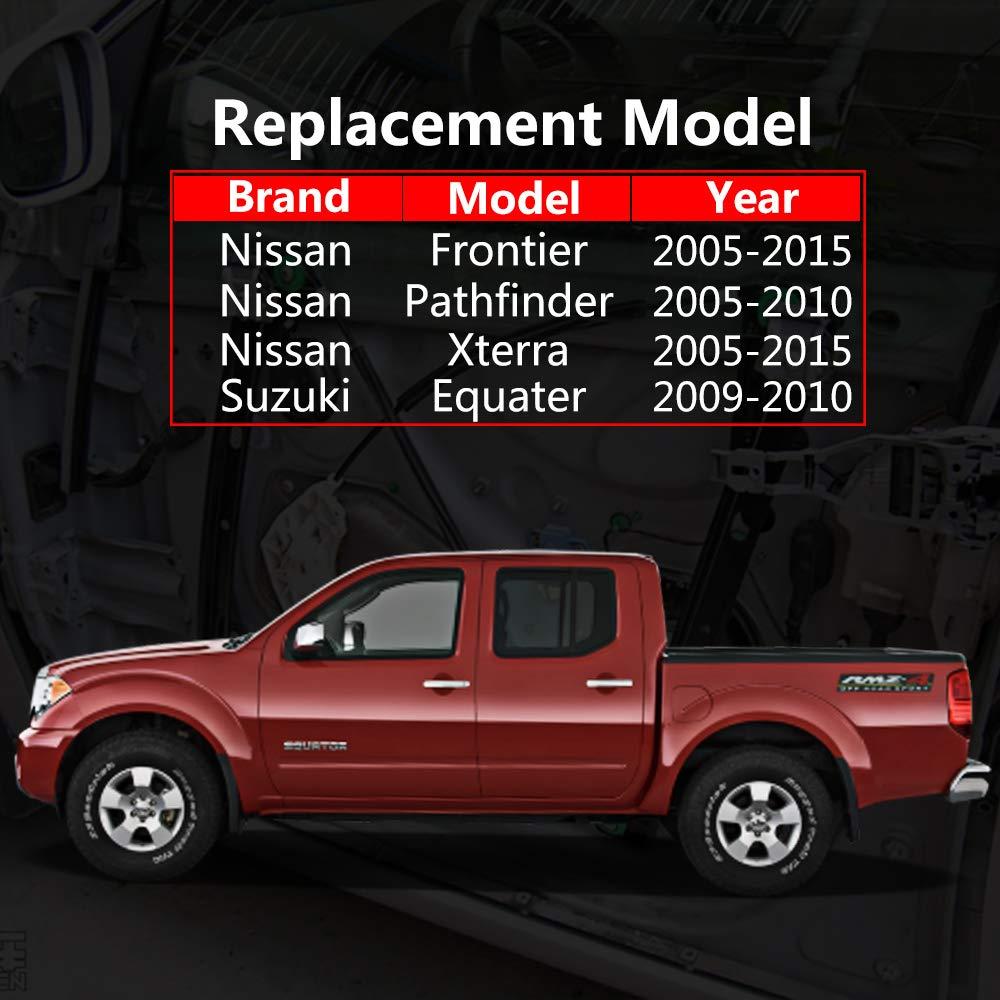 Replace OEM#: 80721-EA000 Driver Side for Nissan Frontier 2005-2015 Suzuki Equator 2009-2010 Xterra 2005-2015 Pathfinder 2005-2010 OTUAYAUTO Front Left Power Window Regulator with Motor