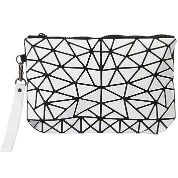 Pangyan990 Bolsa de Embrague Plegable de Viaje para Mujer - Bolsa de Almacenamiento de cosméticos portátil rombo: Amazon.es: Hogar