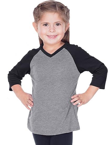2e456bc5 Amazon.com: Kavio! Little Girls 3-6X Sheer Jersey Contrast V Neck ...