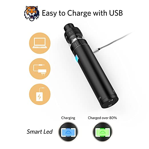 Ciberate Q6 Mini E Cigs Cigarrillos electrónicos Vape Pen Kits de inicio completos, 5 x 10 ml Sabor líquido E Premium (Negro Actualizado): Amazon.es: Salud ...