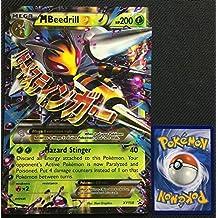 Pokemon MEGA M Beedrill EX XY158 HOLO Rare Jumbo Card