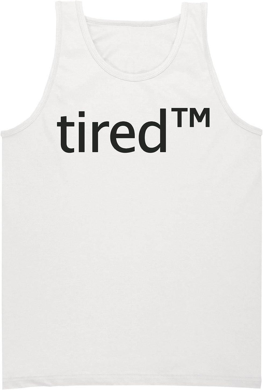 Tired TM Trademark Symbol Mens Tank Top Shirt