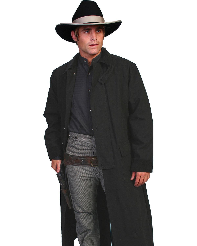 Rangewear By Scully Men's Long Canvas Duster Black Small