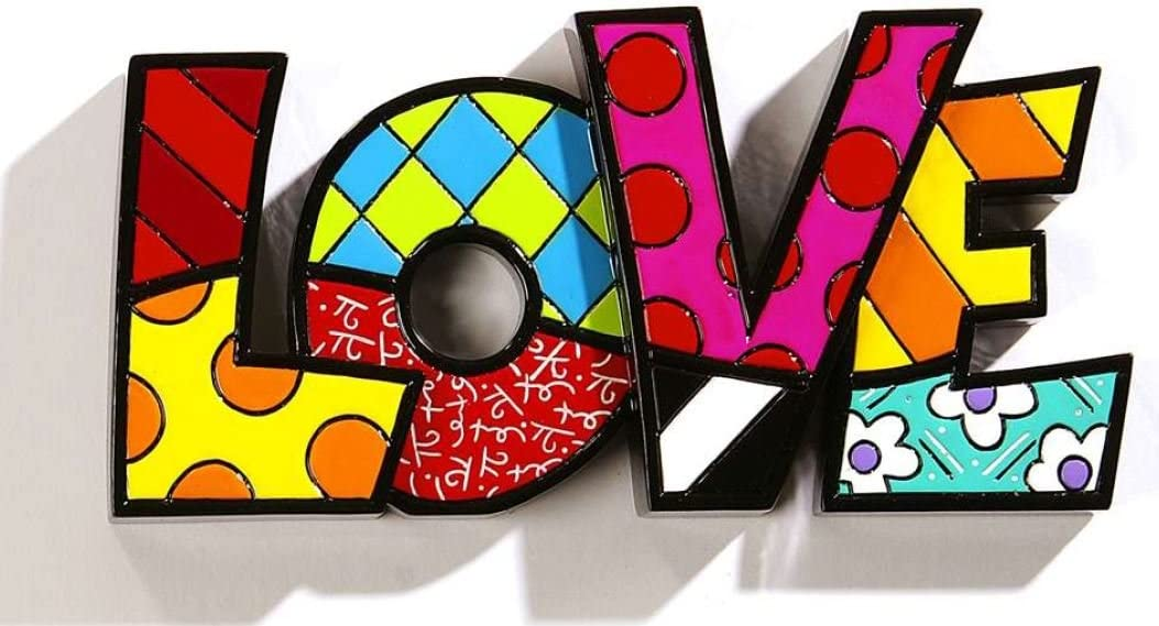 Gift Craft Romero Britto Love Letters Word Pop Art Figurine Collectible 331483 New