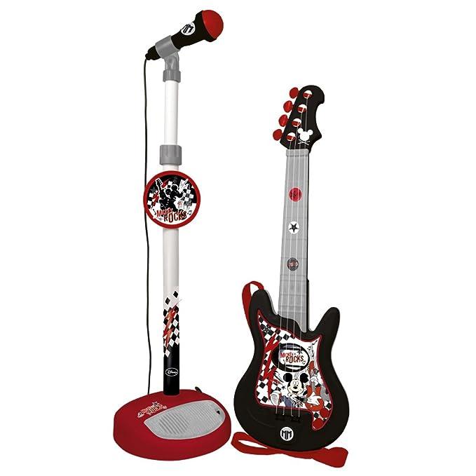 Mickey Mouse - Conjunto guitarra y micrófono infantil (Claudio Reig 5363.0): Amazon.es: Instrumentos musicales