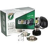 G-Parts バイクLEDヘッドライト5面LED 35W H4Hi/Lo PH7 直流交流兼用 H6 PH8対応 冷却ファン内臓 取付簡単