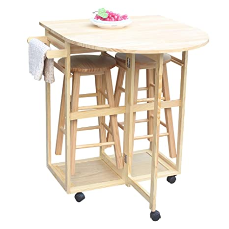Amazon.com - Amailtom Kitchen Island Trolley Cart, 3-Piece ...