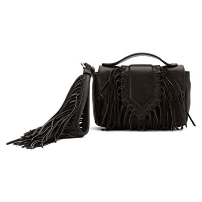 4258578467dda Sam Edelman Women s Camille Fringe Flap Mini Bag Black One Size ...