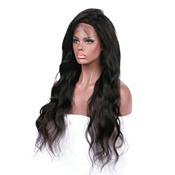 Amazon.com   Chartsea Curly Wig Glueless Full Lace Wigs Black Women Indian  Remy Human Hair Lace Front (Black)   Beauty 87feff79bb