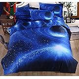 Sky 3D creative bed sheet quilt duvet cover bedding,Queen,G