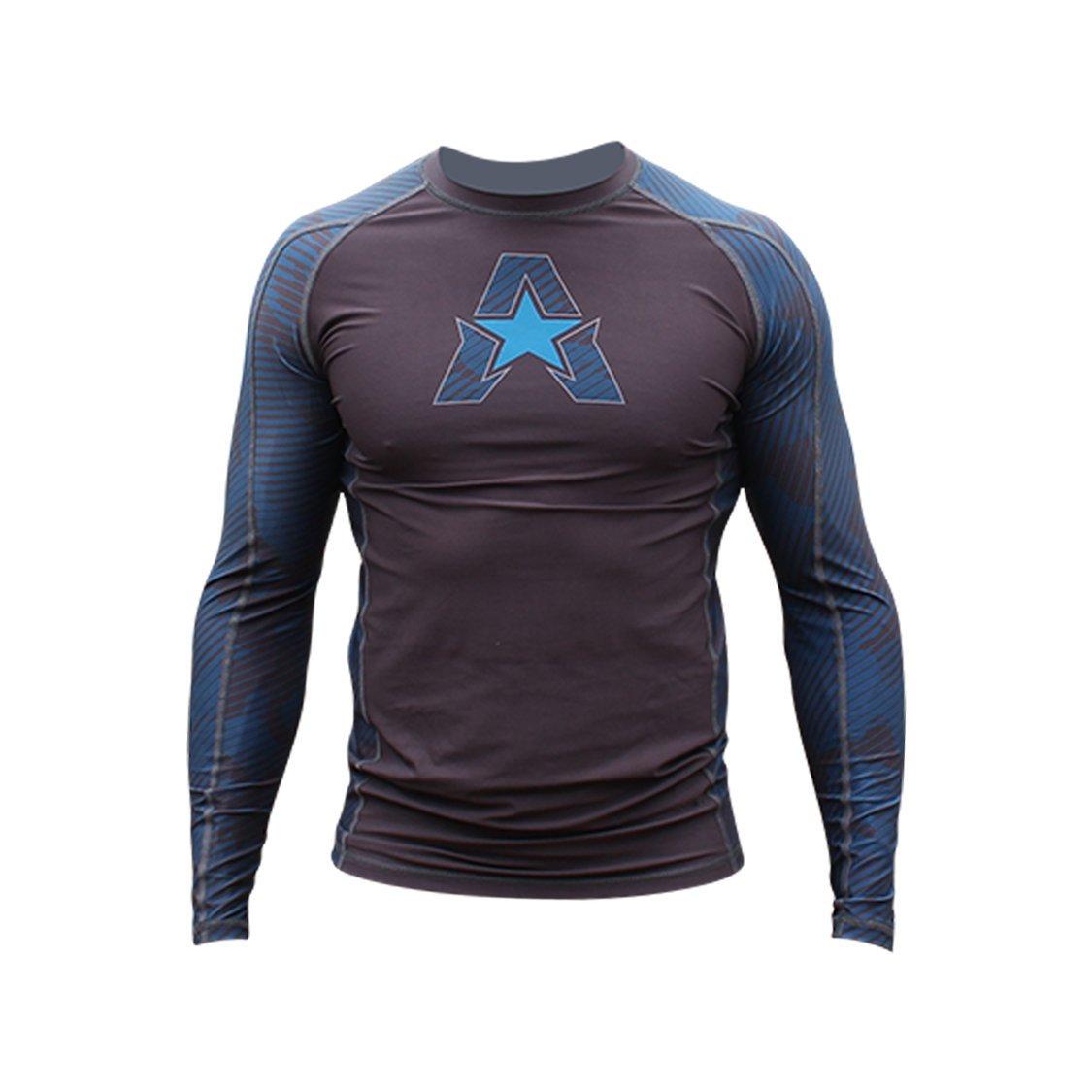 Anthem Athletics NEW! 10+ Styles HELO-X Long Sleeve Rash Guard Compression Shirt - BJJ, MMA, Muay Thai - Marine Line Camo - Medium