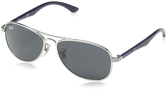 Ray Ban Junior 9529S Gafas de Sol para Niños/Niñas, Plata/Azul