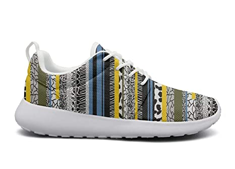 Amazoncom Feww11 Men Funny Lightweight Shoes Sneakers Stripe