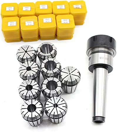 MT3 Shank ER32 Chuck With 11 PC Collets Set lathe CNC and Milling Machine