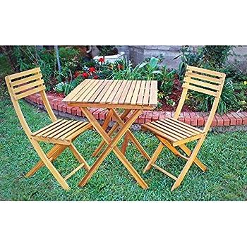Amazon.com: 2-PC. Silla de madera de acacia plegable Set ...