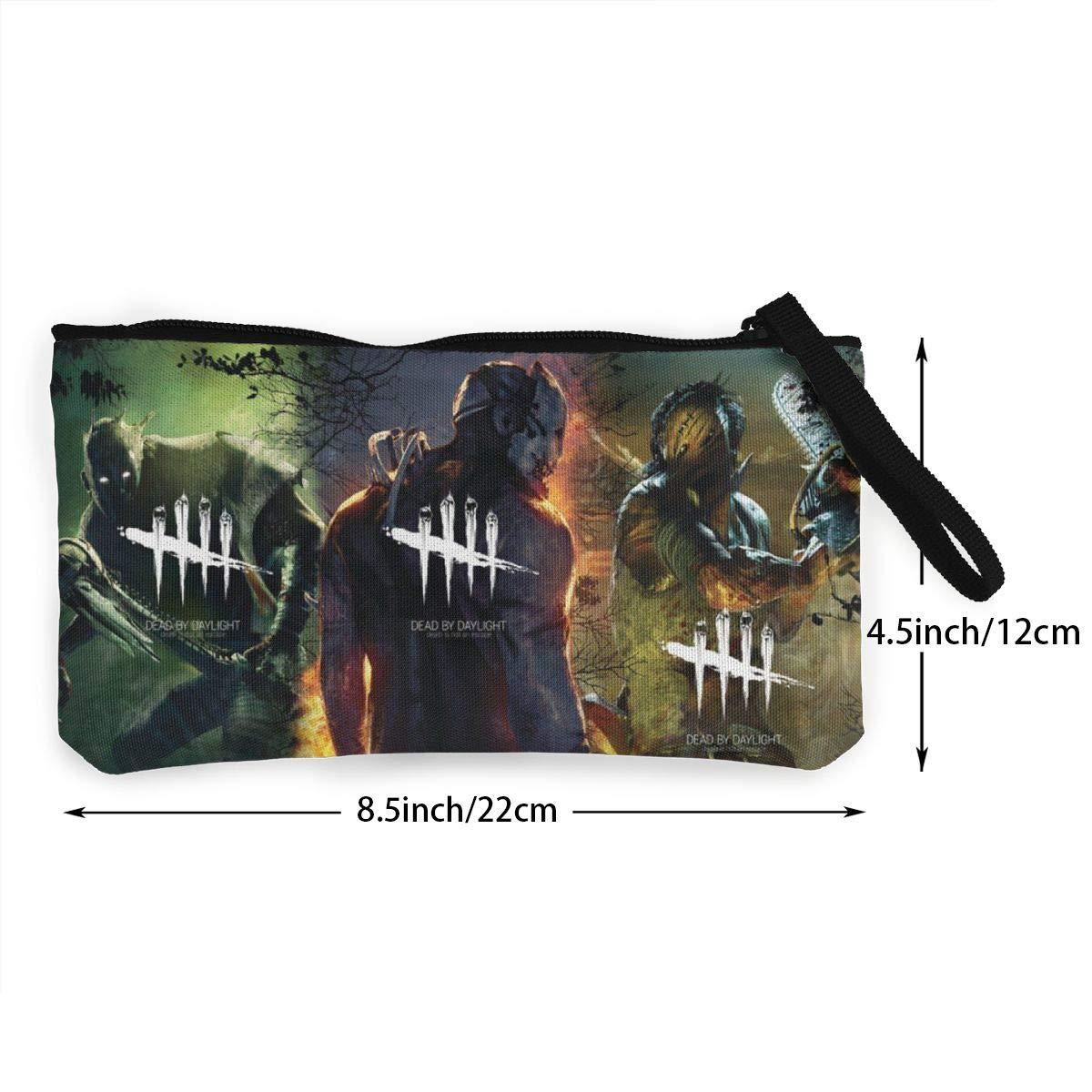 REYUTEEG Small Wallet for Women Dead Day Skull Light Canvas Coin Zipper Purse Pouch Girls Boys Cash Bag One Size