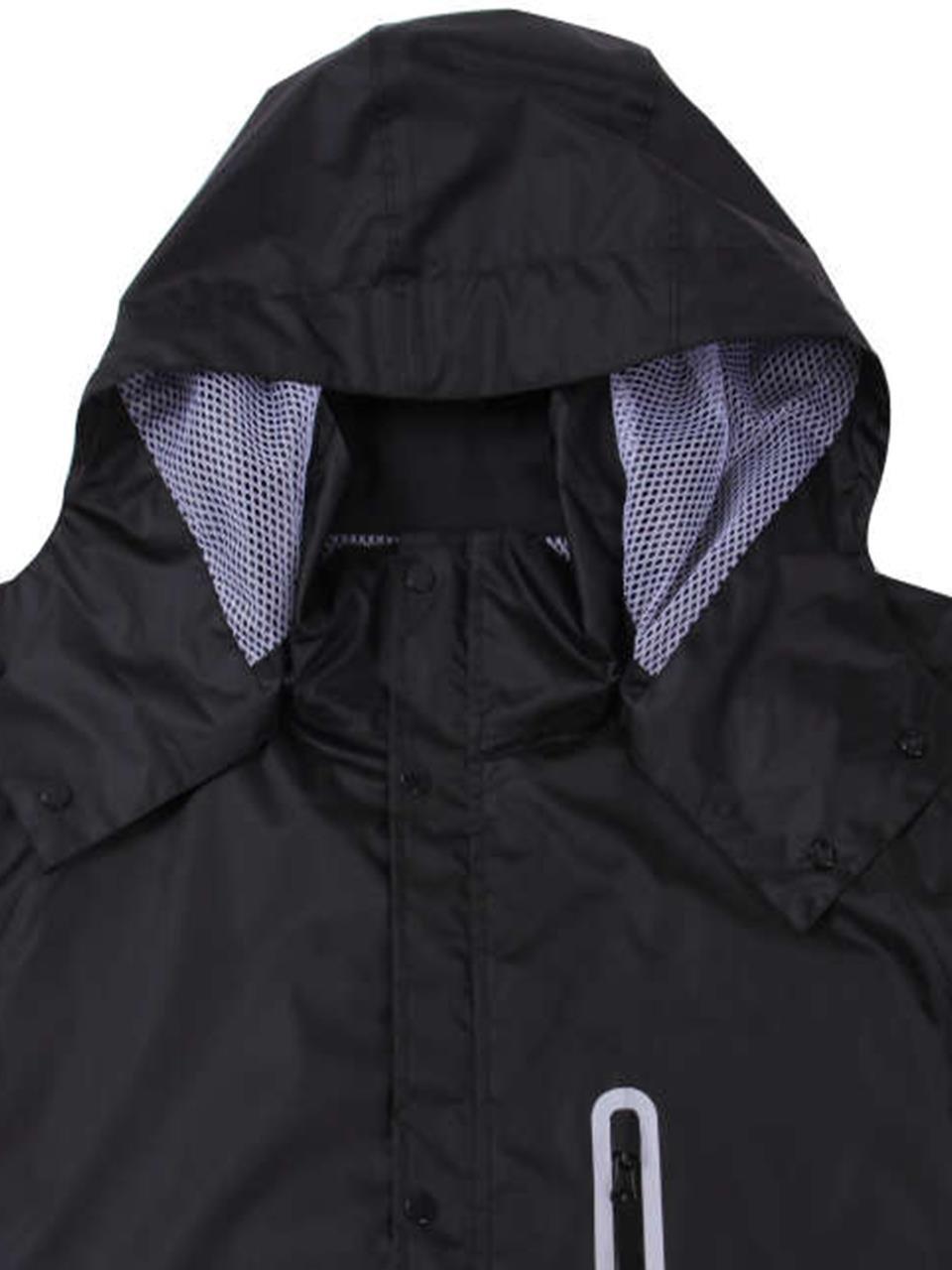 96b8f32d7e04da レインウェア 大きいサイズ メンズ レインスーツ 合羽 カッパ 雨具 BIGサイズ メッシュ C291024-01 B076ZCCFNB  3L|ブラック ブラック 3L -レインスーツ上下セット