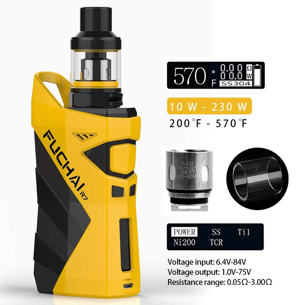 Cigarrillo Electrónico SIGELEI Snowwolf 230W TC Control de Temperatura E-Cigarrillo Box Mod,Sin Nicotina y Sin E-líquido(Amarillo): Amazon.es: Salud y ...