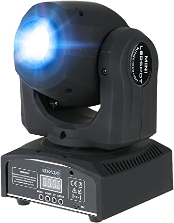 Lixada Bola Discoteca Luces RGB LED Mini Crystal Magic Bola Giratoria Efecto LED Escenario Luces para