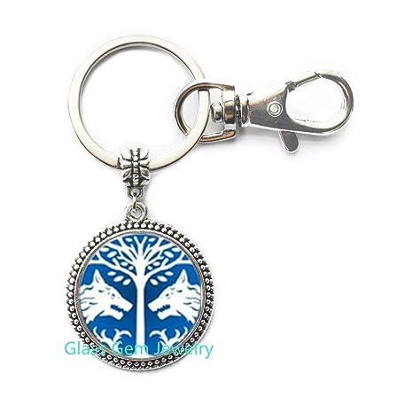 Llavero de lobo, árbol de la vida, Wiccan Jewellery, Pagan ...