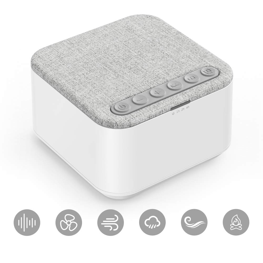White Noise Machine, X-Sense Sleep Sound Machine with 40 Non-Looping Soothing Sounds and High Quality Speaker, 30 Levels of Volume, 7 Timer Settings and Memory Function for Home, Office and Travel