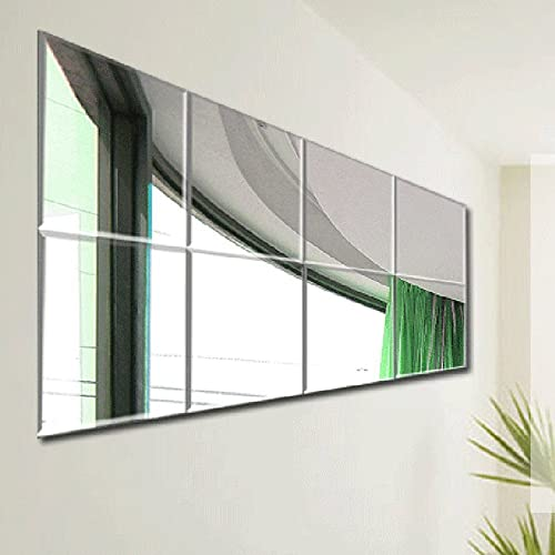 Mirror Wall Tiles 8x8' Pack of 8: Amazon.co.uk: Kitchen & Home