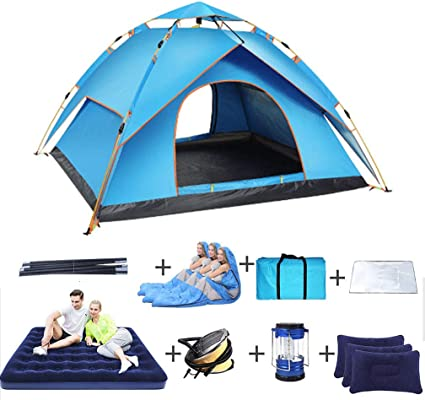 Dajolg Doppelschicht Outdoor Pop Up Campingzelt Familienzelt