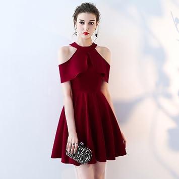 Vestidos de noche de color vino