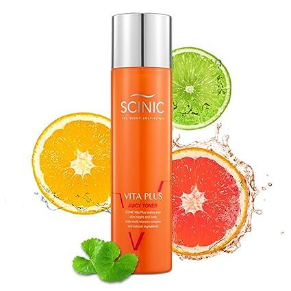 Scinic Ayuda vita jugosa tóner líquido todo tipo de piel las mujeres contiene vitaminas 130ml