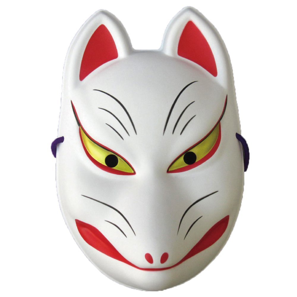 Japanese Omen Mask FOX Happy New 22.5cmX15cm(8.66x5.91incH)