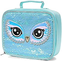 Justice Owl Flip Sequin Lunch Tote