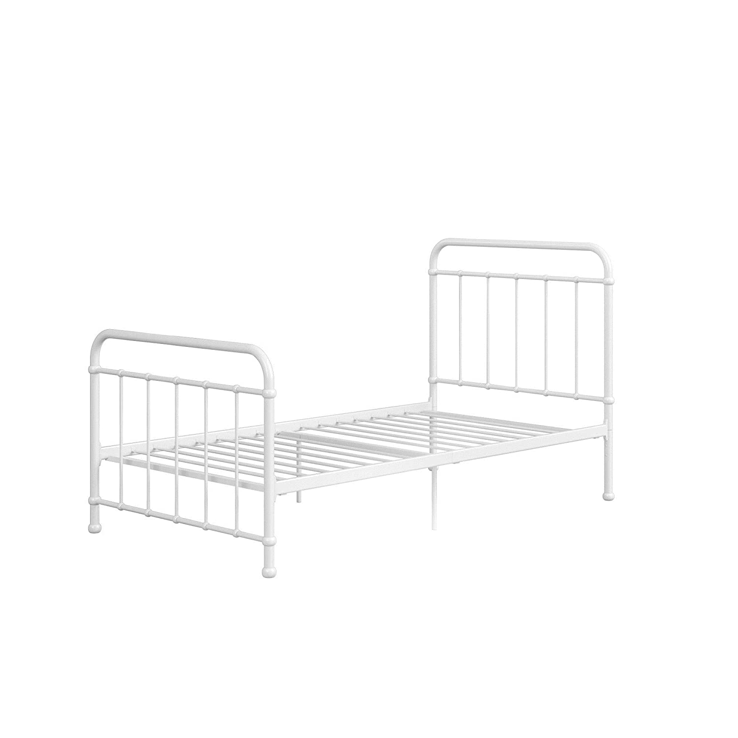 DHP 3291096 Brooklyn Iron Twin Bed White Bedroom Furniture ...