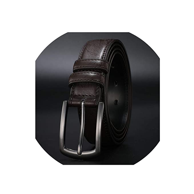 c86a79924c2f Image Unavailable. Image not available for. Color: New Fashion Men'S  Genuine Leather Belts Designer Belt For Man Pin ...