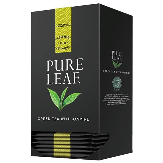 Pure Leaf Té verde Jazmín - 6 cajas de 25 pirámides (Total 150 pirámides)
