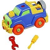 Giochi Costruzioni in Plastica Assemblare Giochi Jeep Giocattoli 27 pcs Estraibile per Bambini