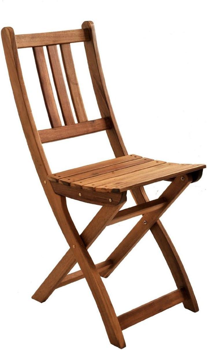 SAM/® Set Economico costituito da 2 sedie da Giardino in Legno di Acacia Facili da sistemare Durante l/'Inverno Certificato FSC/® terrazzi o Giardini Pieghevoli Ideali per balconi