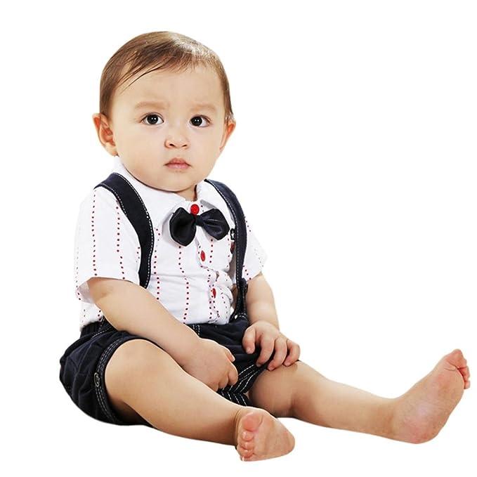 Amazon.com: moonker bebé Boys trajes de verano Caballero ...