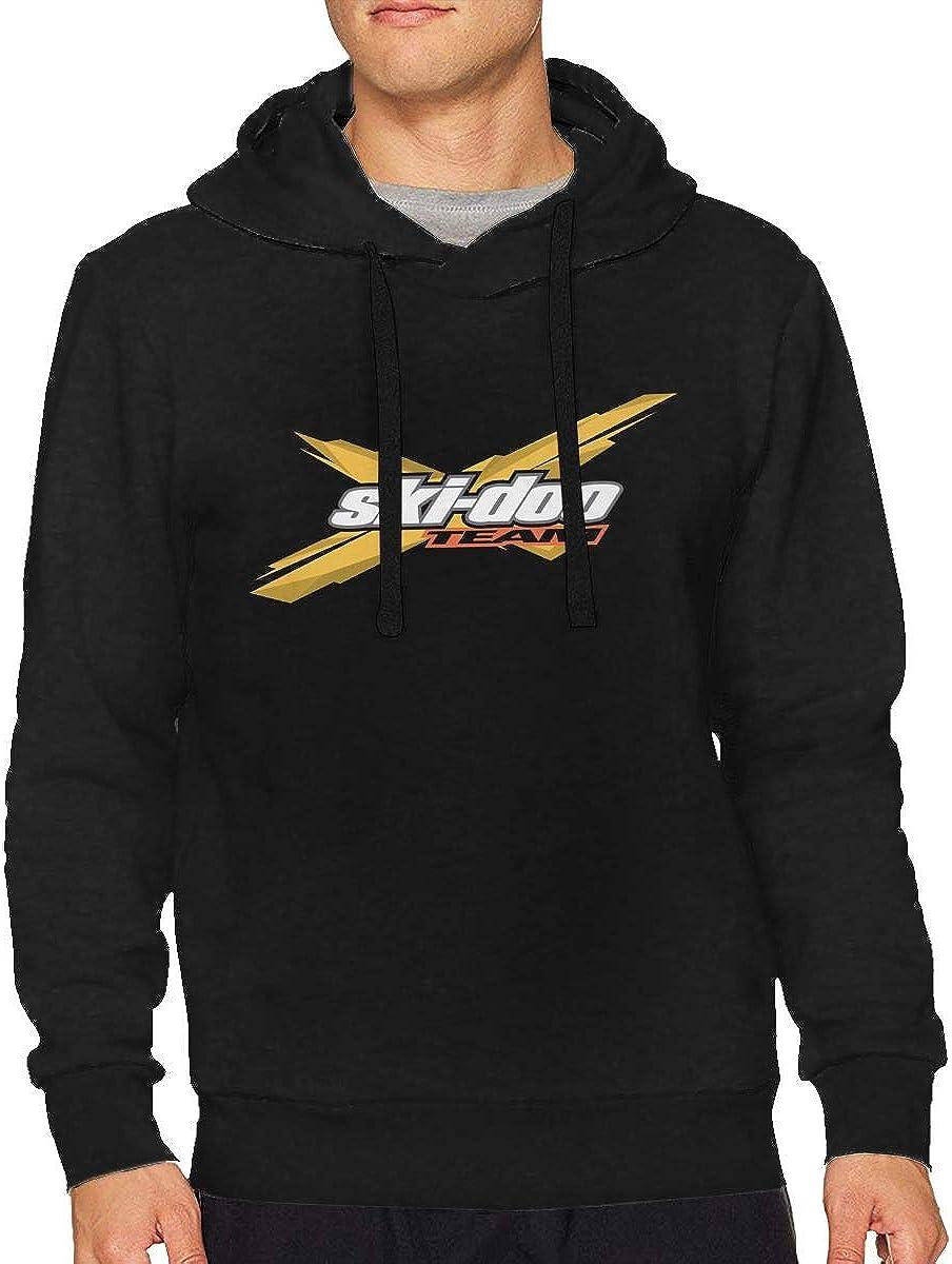 Qq15-kcdds-store Skidoo Mens Boys Long Sleeve Essential Hoodie Sweatshirts Half Dome Pullover Hoodie