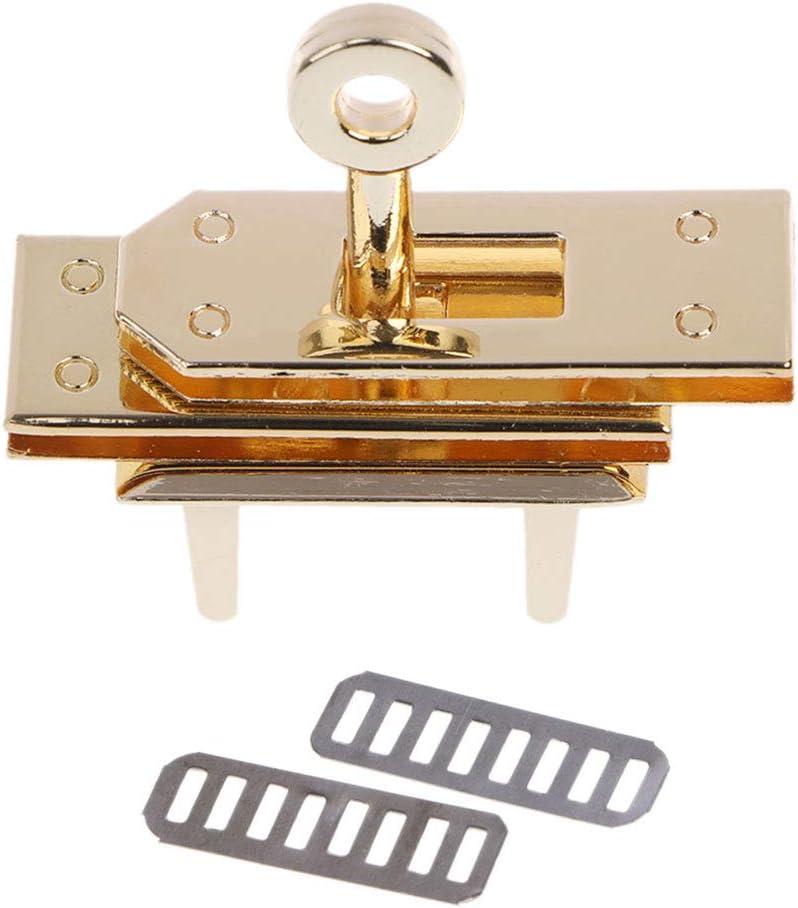 Eliky Metallverschluss Turn Locks Twist Lock DIY Leder Crossbody Handtasche Schultertasche Schnallen