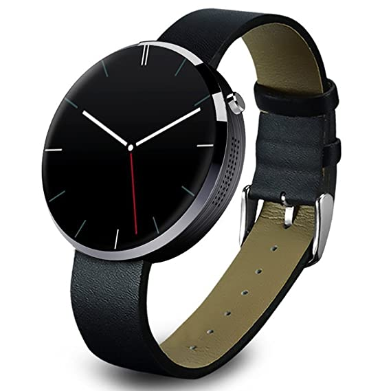 TechComm DM360 Water-Resistant Smart Watch Pedometer Heart Rate Monitor