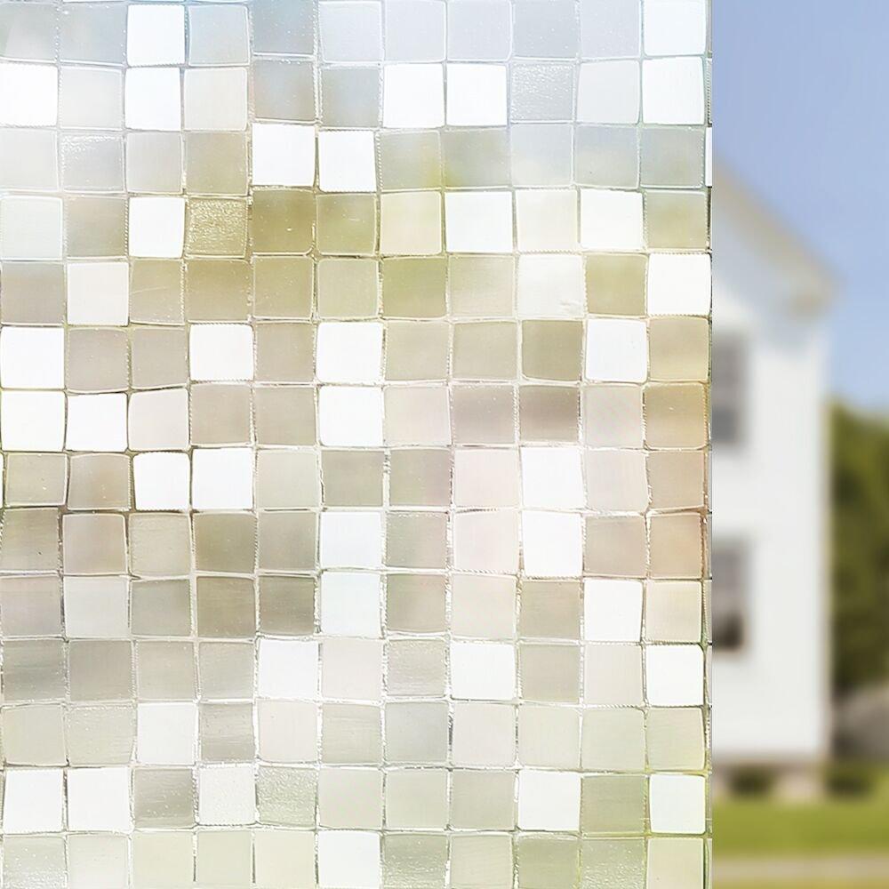Amazon Rabbitgoo 3D Fensterfolie Dekorfolie Sichtschutzfolie