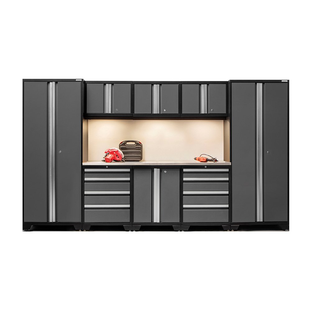 NewAge Products 50117 Bold 3.0 Cabinetry Set with Stainless Steel Work Top, Grey by New Age (Image #2)