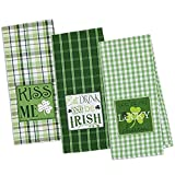 DII Cotton Holiday Dish Towels, 18x28'' Set of 3, Decorative Oversized Embroidered Kitchen Towels, Perfect Home and Kitchen Gift-St Patrick's Day