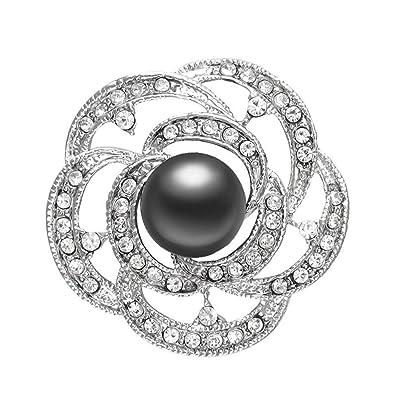 Prix usine 2019 nouvelle collection Garantie de satisfaction à 100% WSIOANJ Broche Femme Nouveau La Mode Cristal Camélia Broche ...