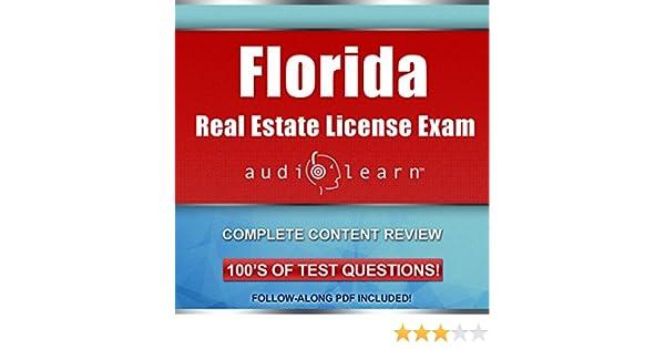Amazon com: Florida Real Estate License Exam AudioLearn