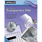 APOLLO Transparency Film for Laser Printers, Black on Clear, 50 Sheets/Pack (CG7060) (VCG7060E)