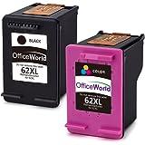 OfficeWorld 62XL Rigenerata HP 62 Cartucce d'inchiostro (1 Nero,1 colore) Alta capacità Compatibile con HP Envy 5540 5544 5546 5547 5640 5642 5644 7640 5646 5542, HP OfficeJet 200 5740 5742 5744